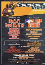 IRON MAIDEN / LIMP BIZKIT - DOWNLOAD FESTIVALorIginal press clipping21x29cm