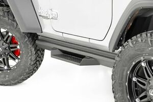 Rough Country For Jeep DS2 Drop Steps 18-20 Wrangler JL   2-Door