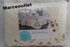 New ListingMartha Stewart Westminster Vines King Embroidered Bedspread Ivory