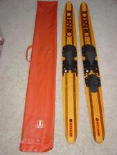 "Vintage Cut-n-Jump Tourni Pro Wood Water Skis 1-Slalom 67"" wooden Pair"