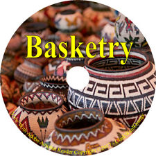 59 RARE books on CD, Basketry Baskets Indian Weaving Weave How to Make