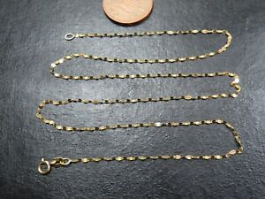 VINTAGE 9ct GOLD ANCHOR TINSEL LINK NECKLACE CHAIN 18 inch C.1990