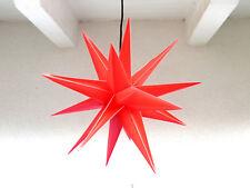 Kunststoffstern Dekostern 18 Zacken rot 50 cm inkl. Kabel 3D Adventsstern IP44