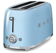 SMEG 2 Slice Toaster Extra Wide Bagel Retro 50's TSF01PBUK 2 Year Warranty BLUE