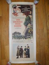 The Trouble With Harry ORIGINAL 1955 INSERT POSTER Alfred Hitchcock LINENBACKED