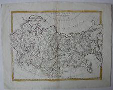 Rusia asiático Kolor ORIG grabado Zatta Venecia 1785 asia Tartaria