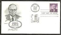 US Scott # 1161 Robert A Taft FDC. Artmaster Cachet.