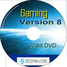 Zorin OS 8 Gaming 32 bit live DVD - no license required Linux O/S Windows alt