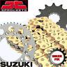 Gold X-Ring Chain & and Sprocket Set Kit SUZUKI GSF1250 K7-K9 BANDIT (ABS) 07-09