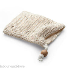 Travel Wash Cloth Scrubber * Sisal Soap Bag For Residue Soap*