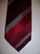 NWT Tasso Elba men's red burgundy purple white striped silk neck tie $59 necktie