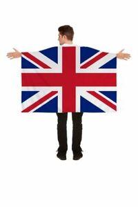 Great Britain Union Jack Flag Cape- 5ft x 3ft- New
