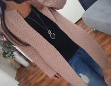 Long Cardigan Mantel Neu M L 40 Warm Wolle Strick Jacke Knit Blogger Mohair Lana