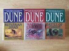 Lot 3 Legends of Dune Trilogy Brian Herbert Hardcover Battle Corrin ALL 1st/1st