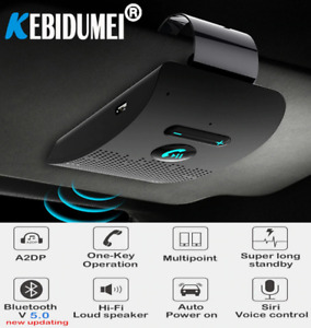 Bluetooth Handsfree Car Kit 4.2 Sun Visor clip Wireless Audio Receiver Speaker