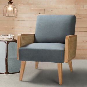 Polyester Cane armchair  Accent Chair Reception chair for bedroom living room