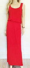 """INFLUENCE Size M/L 12 / 14 Simply Fab Bright Red Racer back 60"""" MAXI DRESS Hols"""