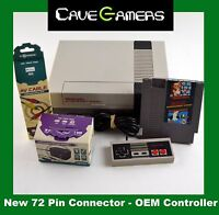 Nintendo NES Original Console System Bundle Super Mario Bros *New 72 Pin*