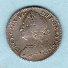 New listing Great Britain. 1745/3 Overdate - George 11 Sixpence. Vf