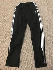 vintage Adidas black /white Pants Zip 3 Strips Ankle (Size M )