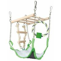 Trixie Suspension Bridge Hanging Toy with Hammock Bed - Hamster/Mouse Cage Nest