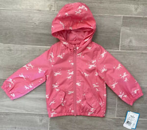 Carters Baby Toddler Girl 12 Months Pink Unicorn Spring Lightweight Coat *NEW*