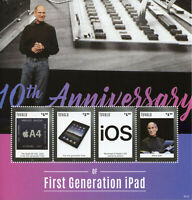 Tuvalu Technology Stamps 2020 MNH iPad First Generation Steve Jobs People 4v M/S