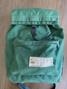 Vintage 70s Wilderness Experience Green Mountaineering Rucksack Backpack
