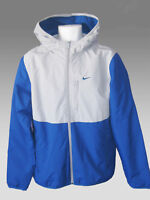 New NIKE Mens Thermore Insulated  Fleece Lined Jacket Blue Grey M