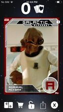 Topps Star Wars Digital Card Trader Silver Ackbar Galactic Alphabet Insert Award