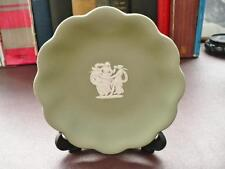Vintage 60's Retro Wedgwood Pin Dish - Green Jasper Ware - The Three Graces