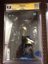 Death stroke #36 Gotham rogues variant cover by Francesco mattina cgc 9.8 Signed