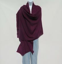 100% Cashmere|Himalayan|Shawl/Scarf| Lightweight|1Ply|4Pad|Handloomed|Eggplant