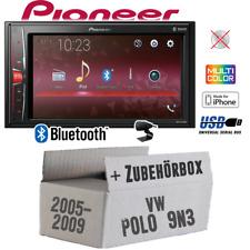 Pioneer Autoradio für VW Polo 9N3 Bluetooth 2DIN MP3 USB PKW Einbauset/ -zubehör