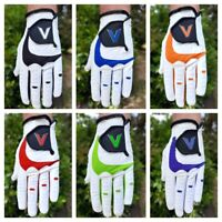 Men's Golf Gloves Leather All Weather Right or Left Hand FREE ROYAL MAIL POST