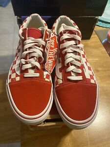 Vans Old Skool Checkerboard Red Supreme Men's Size 9 Women's 10.5 Rare! Sold Out