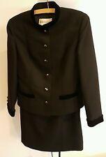 Genuine Vintage 1970's  Womens  Ladies Classic  Black Skirt Suit by Windsmoor