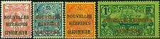 New Hebrides French 1910 Set of 4 ex 5c SGF7-F10 Fine Mtd Mint