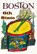 Art Ad Boston 6th State    America USA  Travel Poster Print