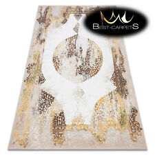 "Amazing very thick ACRYLIC Rugs ""USKUP"" Ornament 355 beige Vintage Best Quality"
