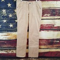 Kuhl Women's Tan Corduroy Stretch Straight Leg Pants Size 6Reg - 30 x 30