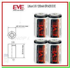 4 Batterie Pile EVE 14250 3,6V Li-SoCl2 1/2 AA Mezza Stilo 1200mAh Mac Gps Miles