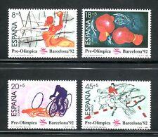ESPAÑA 1989 2994/7 Barna'92 II PREOLIMPICA 4v.Balonmano/Boxeo/Ciclismo/Equitacio