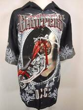 Cool Men's XXL OCC Orange County Choppers Motorcycle Design SS Button Shirt GUC