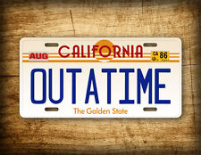 Back To The Future Movie License Plate California OUTATIME Delorean Replica Tag