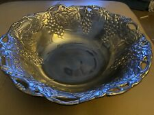 1995 - Signed Arthur Court 12� Decorated Grape Aluminum Salad Bowl