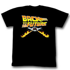Back To The Future Movie Car Flames Movie Poster Licensed Adult T Shirt