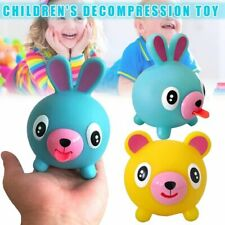 Screaming Toy Talking Animal Jabber Ball Tongue Out Stress Squaking Soft Ball