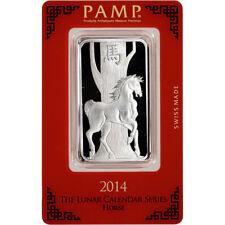 Lunar 2014 Year of the Horse - 1 oz .999 fine silver bar - PAMP Bullion Coin Bar