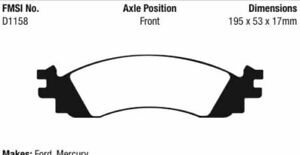 EBC Yellowstuff Brake Pad Set Front for 06-11 Explorer / 06-10 Mountaineer